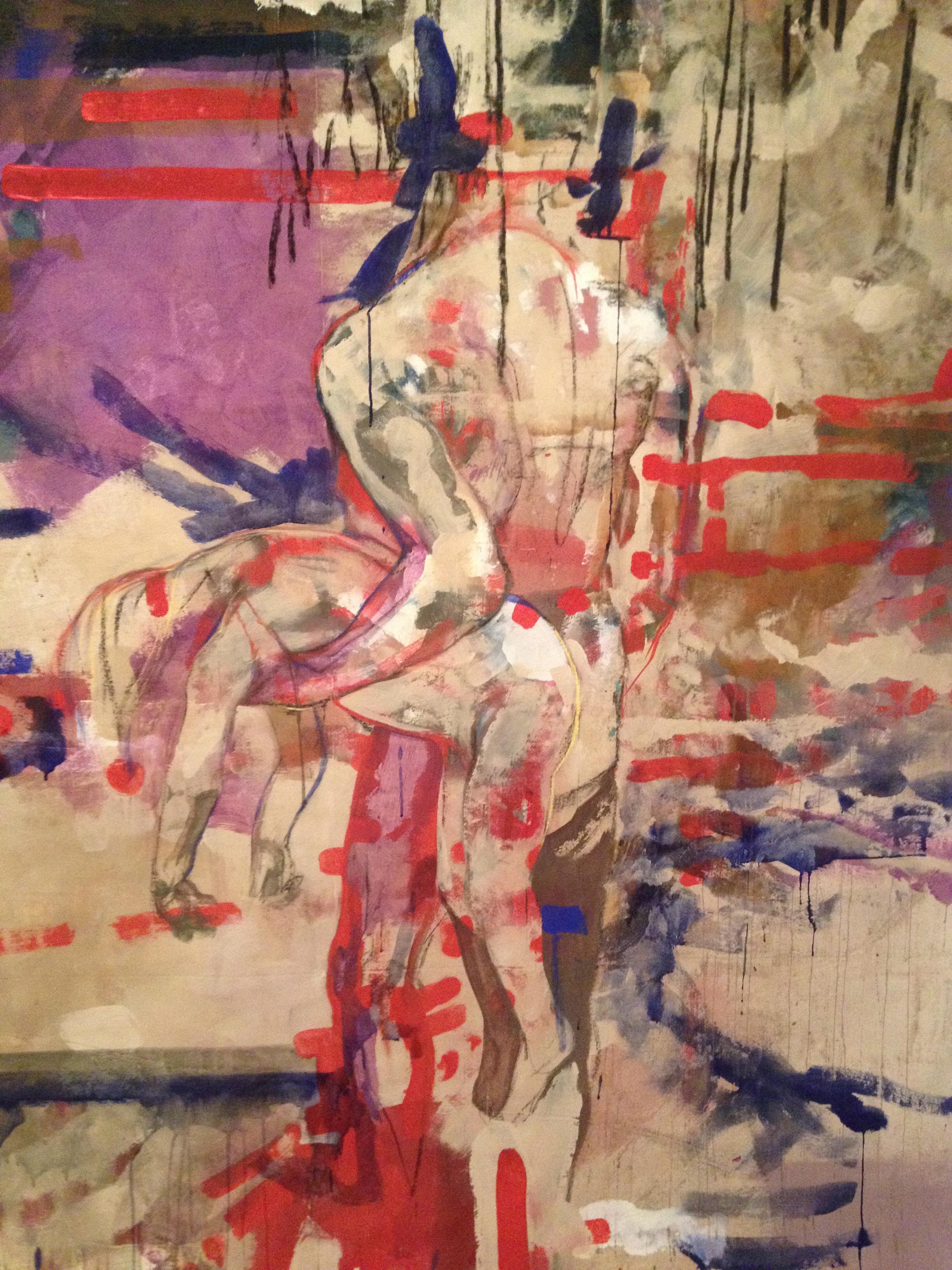 Paracas (Detail), 270 x 160 cm, Acryl_Lwd, 2017