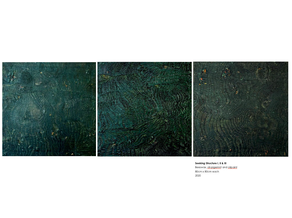 Seeking-Structure-I-II_Elize-Vossgatter_-III-Beeswax-oil-pigemnt-and-oilpaint-80cm-x-80cm-each-2020