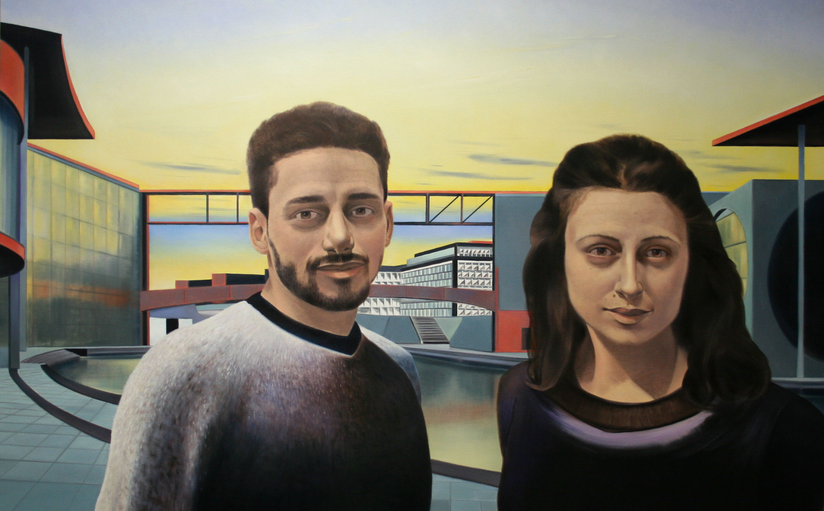 Hussam-and-Zoya-Government-District-Berlin-48-x-60-in-oil-and-colored-pencil-on-canvas-2018-2