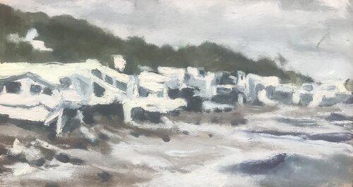 Emily-Wisniewski-Path-of-Water-oil-on-cardboard-85-x-4.5-2019