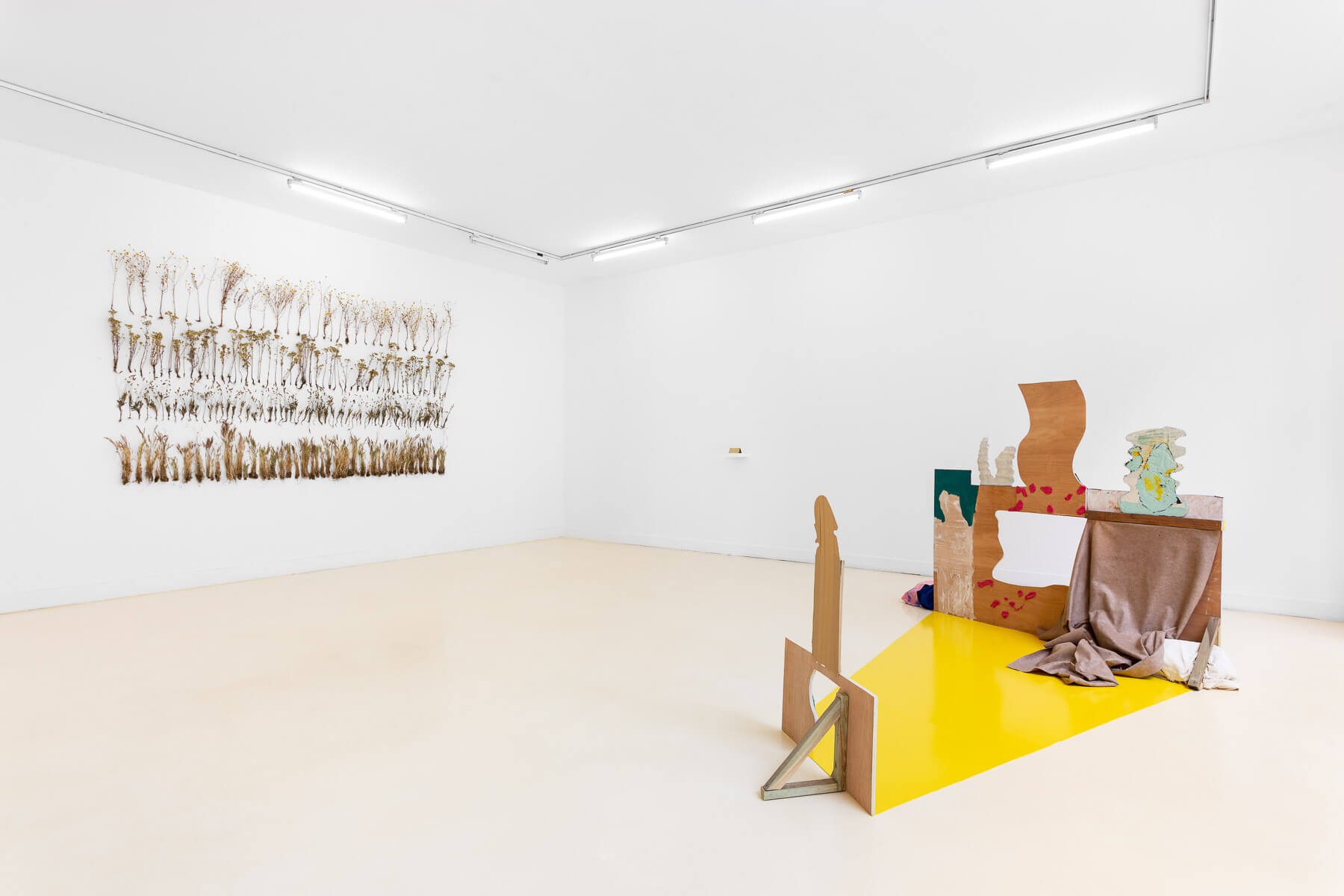 Installation view, On the edge of the landscape comes the world, Pavilhão Branco, 2021, curated by Carolina Valente