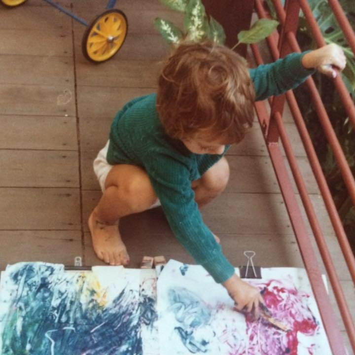 Lily-painting-as-a-child-in-Australia
